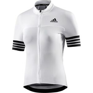 Details about Adidas Ladies Cycling Jersey Bicycle Bike Shirt Summer Road MTB White/Black