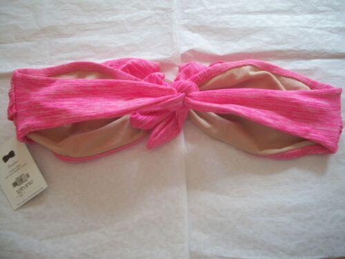 TYLER ROSE STRAPLESS BANDEAU BIKINI TOP PINK NWT 70S0 TOO CUTE!!