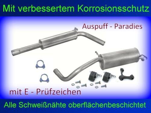 Anbaukit Typ 9N Abgasanlage Auspuff Endtopf VW Polo IV 1.9 SDi /& 1.9 TDi