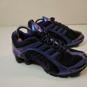 Nike-Womens-Shox-Navina-356918-055-Black-Iridescent-Purple-Size-7-5