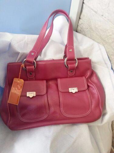 Bolso Pink con nuevo Paris etiquetas Lovecat de cuero Dark HU0qrH7w
