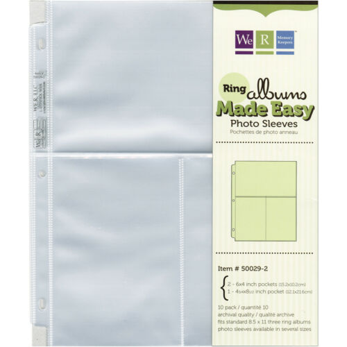"""We R Ring Photo Sleeves 8.5/""""X11/"""" 10//Pkg-Two 6/""""X4/"""" Pockets by We R Memory Keepers"""