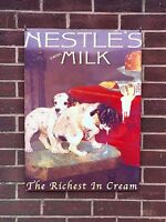 Nestle's Swiss Milk - XL Tin Metal Wall Sign
