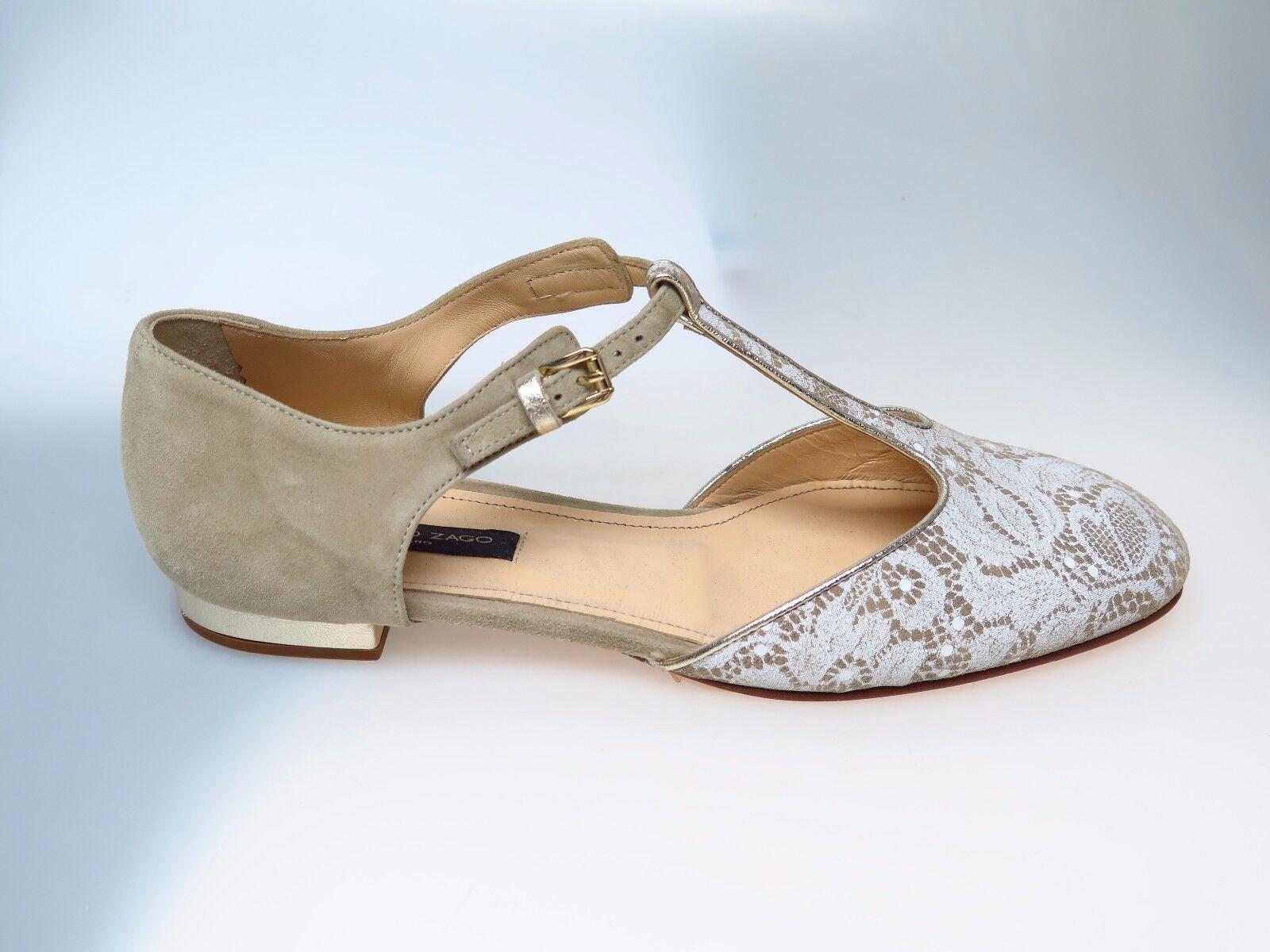 ALBERTO Pizzo ZAGO Damenschuhe Schuhe E33721 Pizzo ALBERTO Camoscio Taupe Gr. EU 38,5 NEU bcf998