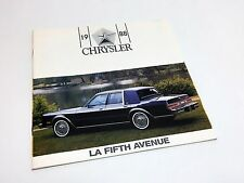 1988 Chrysler Fifth Avenue Brochure - French