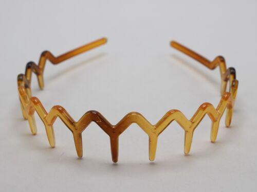 6 Coffee Plastic Wave Hair Band Comb Headband 28mm with Deep Teeth Hair Accessor