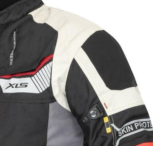 6xl Giacca moto tessile di alta qualità lavorati Tessile Giacca Moto Grigio S