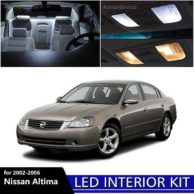 9pcs White Interior Led Light Package Kit For Nissan 2002 2004