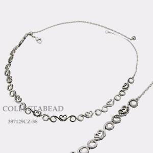 086c5faa0 Image is loading Authentic-Pandora-Sterling-Silver-Heart-Swirls-CZ-Choker-