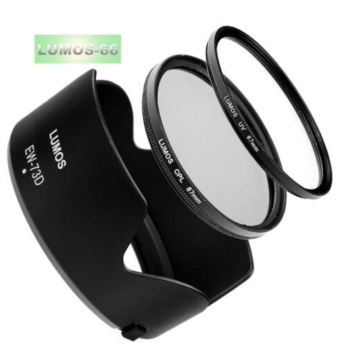 Oscurecidos UV polarizador set 67mm se adapta a Canon EOS 77d 80d 18-135 IS USM