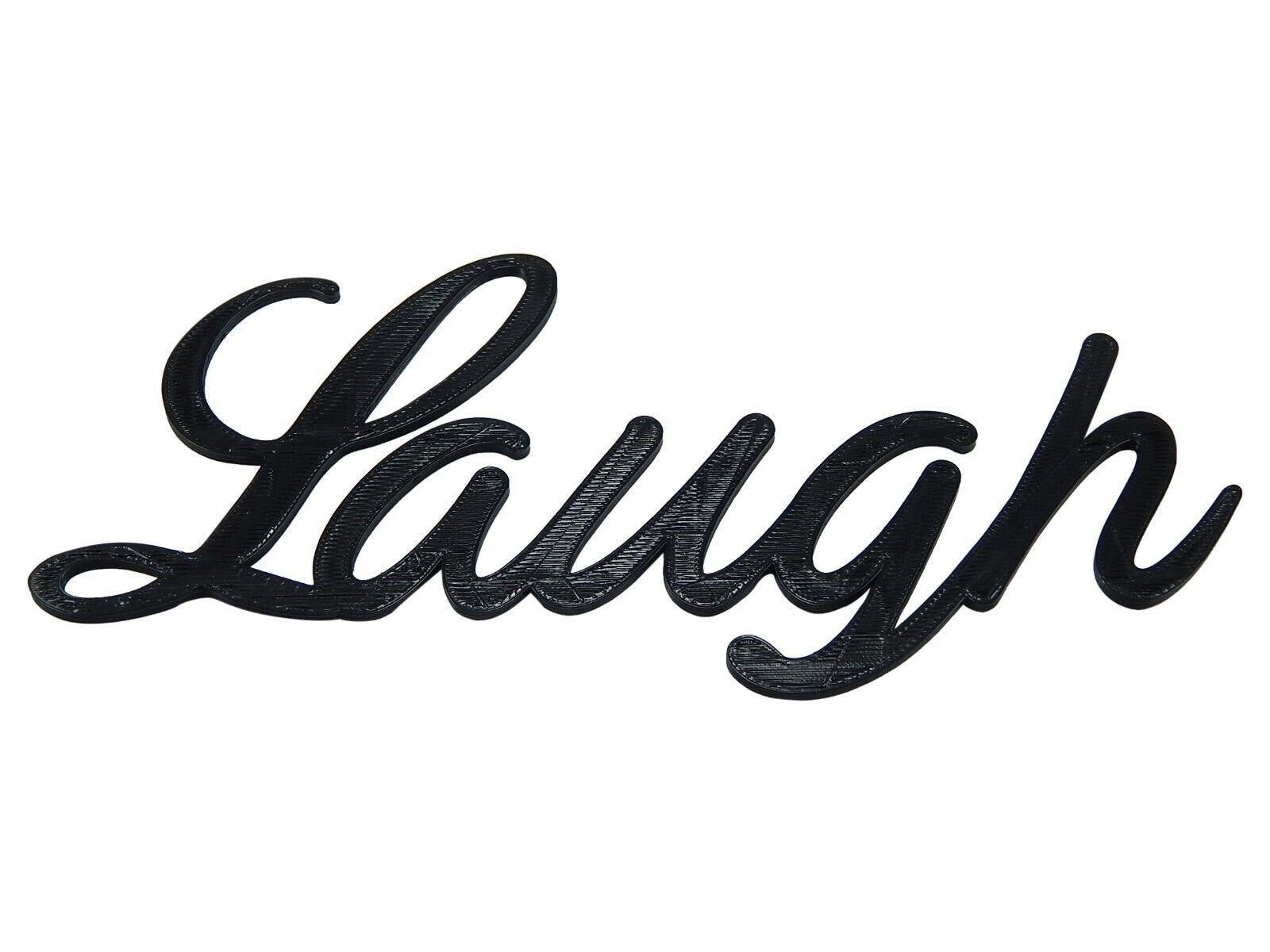 Laugh Word Art Sign Home Kitchen Decor Wall Hanging Cursive Script Typography For Sale Online