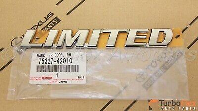 Toyota RAV4 2006-2012 Porta Esquerdo Cromado Limitado Emblema Genuine OEM 75328-42010