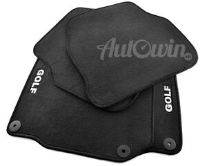 Floor-Mats-for-Volkswagen-Golf-IV-with-GOLF-Emblem-and-Clips-LHD-Side-NEW