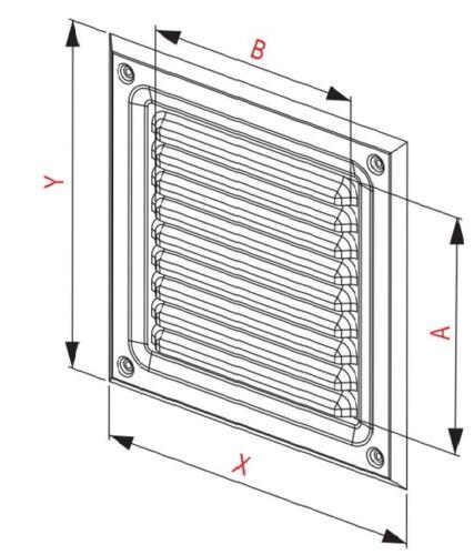 """Acier Inoxydable Air Vent Grille 165 mm x 165 mm Métal Ventilation Housse 6.5/"""""""