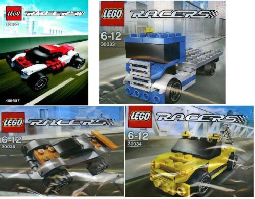 4x LEGO Racers 30030 30033 30034 30035