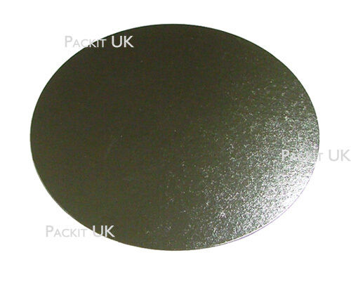"50 x 16"" Inch Round Silver Cake Board 3mm DOUBLE THICK"