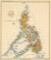 1899 Coastal Survey State Map Of The Philippines Home School Office Wall Poster