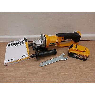 DEWALT XR 18v DCG412  125MM ANGLE GRINDER BARE UNIT + DCB184 5 AH BATTERY