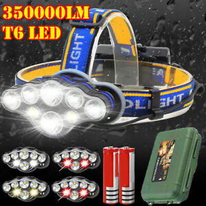 350000LM-Rechargeable-CREE-T6-LED-Headlamp-Headlight-Torch-Flashlight-Work-Light