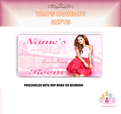 Ariana Grande personalised door plaque perfect gift gift bagged