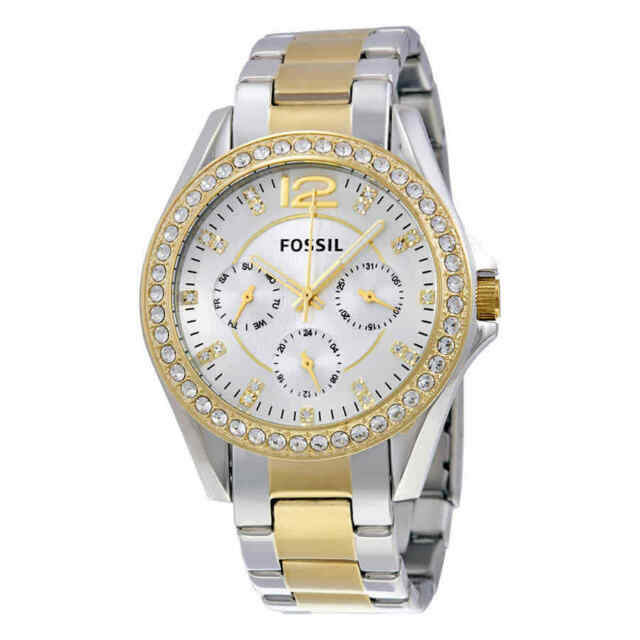 8b4ab5d757f Fossil Women s ES3204 Riley Silver and Gold Tone Watch for sale ...