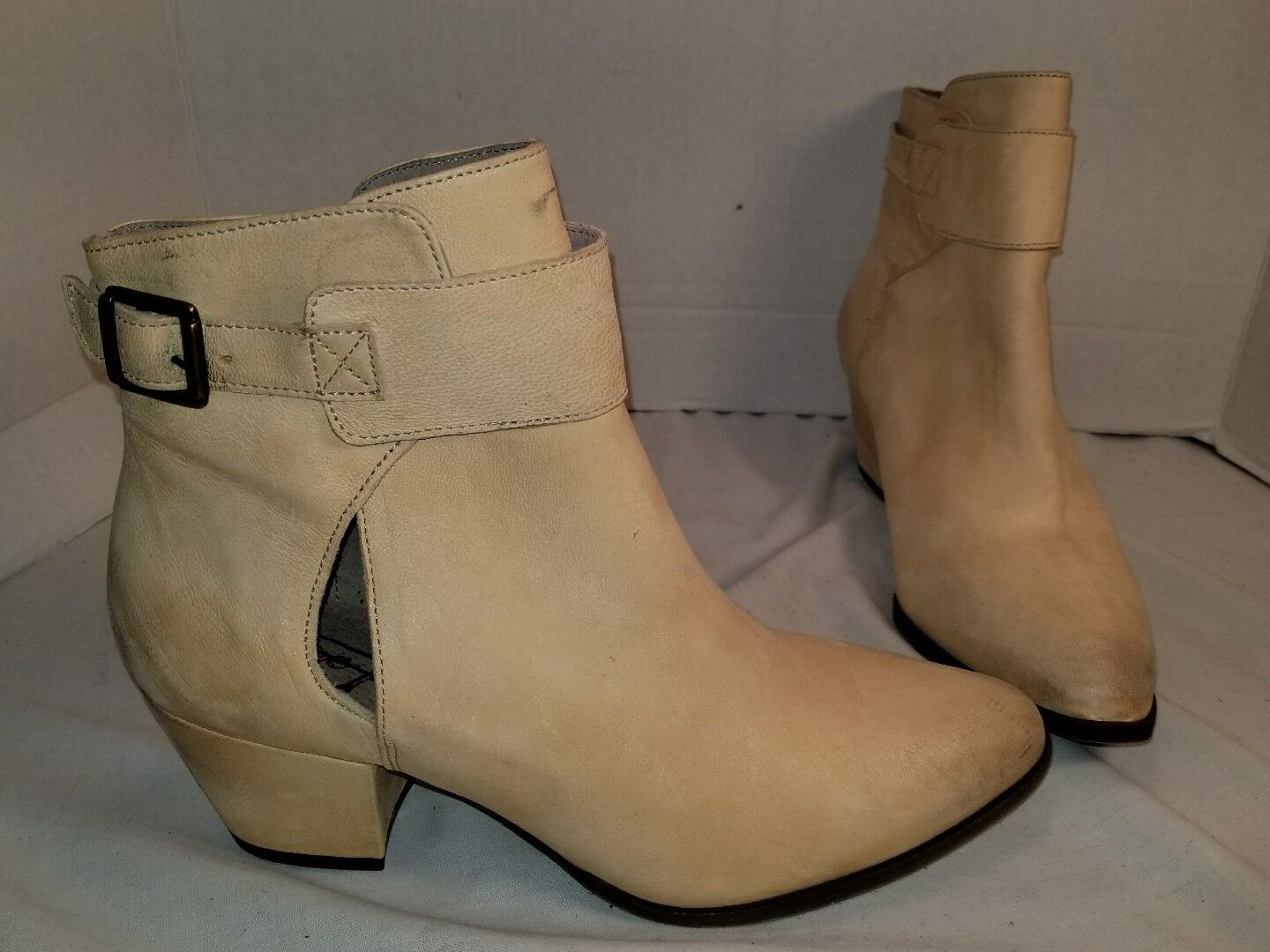 ANTHROPOLOGIE FREE PEOPLE 10 BELLEVILLE NATURAL LEATHER ANKLE Stiefel US 10 PEOPLE EUR 40 e7e1b1
