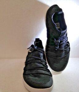 53ea605f22a6 Image is loading Fitflop-Uberknit-Slip-On-Ghillie-Sneakers-in-Black-
