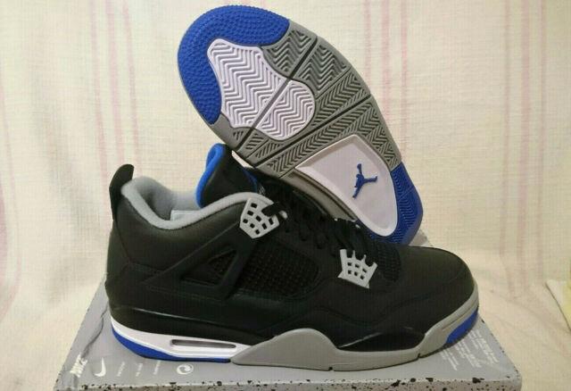 Nike Air Jordan 4 Retro AJ IV Motorsports Alternate Black Royal 308497 006 Sz 13