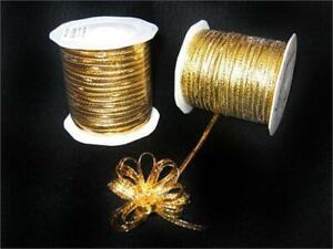 10MM CORD FREE P/&P ART 53858 GOLD SILK//COTTON PIPING//EDGING ROPE X2 METRES