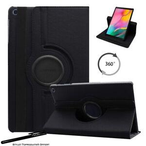 Housse-Etui-Noir-pour-Samsung-Galaxy-Tab-S6-Lite-10-4-034-P610-Support-Rotatif-360