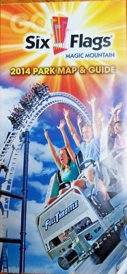 Park Map: Six Flags Magic Mountain 2014 - Valencia, CA | eBay Six Flags Magic Mountain Map on land of make believe map, islands of adventure map, six flags new jersey map, carowinds map, kings island map, great america map, knotts berry farm map, mt. olympus water & theme park map, cedar point map, new orleans six flags park map, busch gardens map, ghost town in the sky map, michigan's adventure map, blackpool pleasure beach map, raging waters map, magic kingdom map, 2014 six flags nj map, 2014 six flags chicago map, thorpe park map, disneyland map,