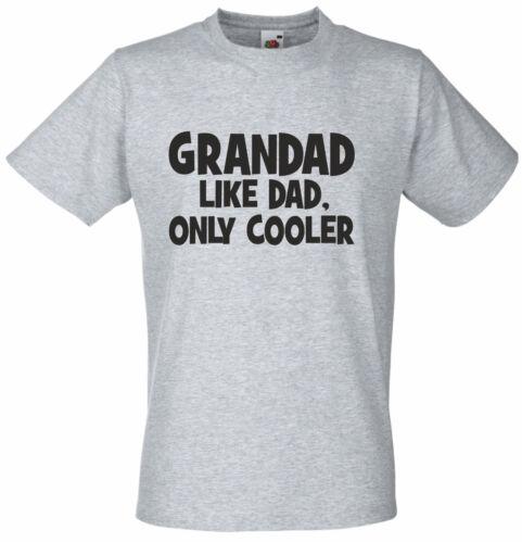 Grand-père Comme papa mais Refroidisseur Funny T Shirt granparents anniversaire cadeau de Noël UK pap