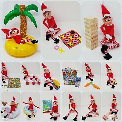 Elf GAMES Accessories Props Put On The Shelf Ideas Kit Christmas Decoration Joke DIY Snow