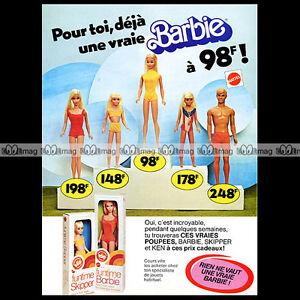 """Mattel Vintage BARBIE, SKIPPER & KEN - 1977 Pub / Publicité / Original Ad #A174 - France - État : Occasion : Objet ayant été utilisé. Consulter la description du vendeur pour avoir plus de détails sur les éventuelles imperfections. Commentaires du vendeur : """"Trés bon état"""" - France"""