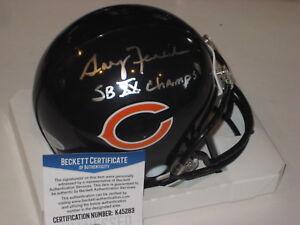 9a74293e Details about GARY FENCIK Signed Chicago BEARS Mini-helmet w/ Witnessed  Beckett COA & Inscrip