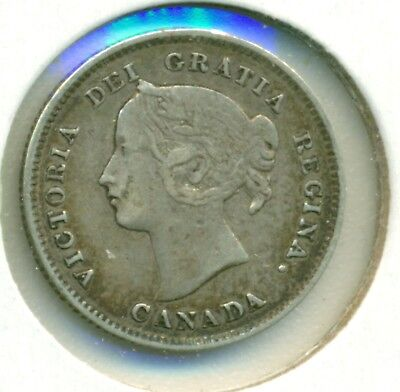 Details about  /1896 CANADA SILVER FIVE CENTS GREAT PRICE! VERY FINE
