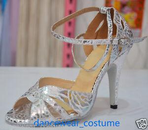 d02a88333 New Ladies Women Tango Rumba Salsa Ballroom Latin Dance Shoes 10cm ...