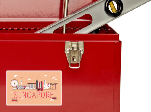 2 x Singapore Vinyl Stickers Travel Luggage #10752