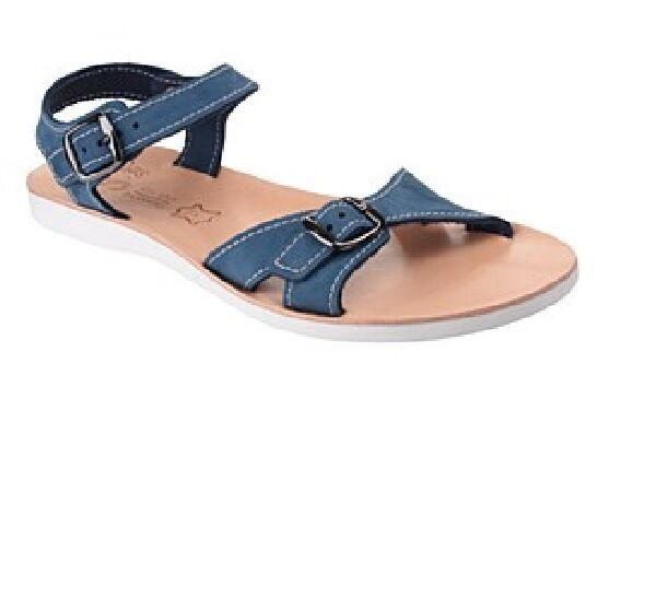 Ladies Sandal  Fantasy  Women's RHODES  blueE  Twin Buckle Casual Sandal