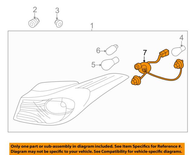 14 16 hyundai elantra tail light bulb wiring harness sockets oem rh ebay com 2013 hyundai elantra tail light wiring harness