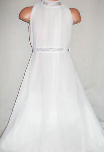 GIRLS-CREAMY-WHITE-DIAMONTE-GRECIAN-LONG-LENGTH-CHIFFON-MAXI-DRESS-with-TIE-BELT
