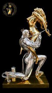 Bronze-Skulptur-Figur-Techno-Lover-Erotik-Liebe-Akt-Metall-Luxus-Lebensgross-Sex