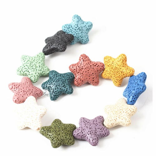 1 Strand Star Shape Natural LAVA STONE BEADS for jewelry making 20*20*8 mm