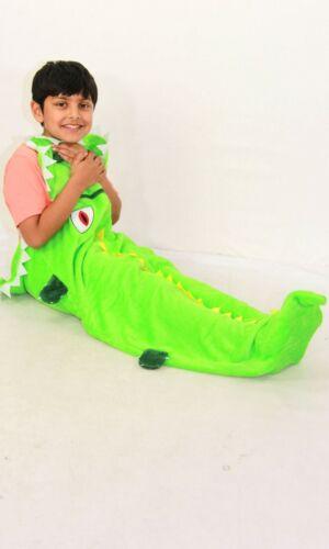 Kids Crocodile Warm Blanket Soft Fleece Cosy Sleeping Bag One Size Blanket.
