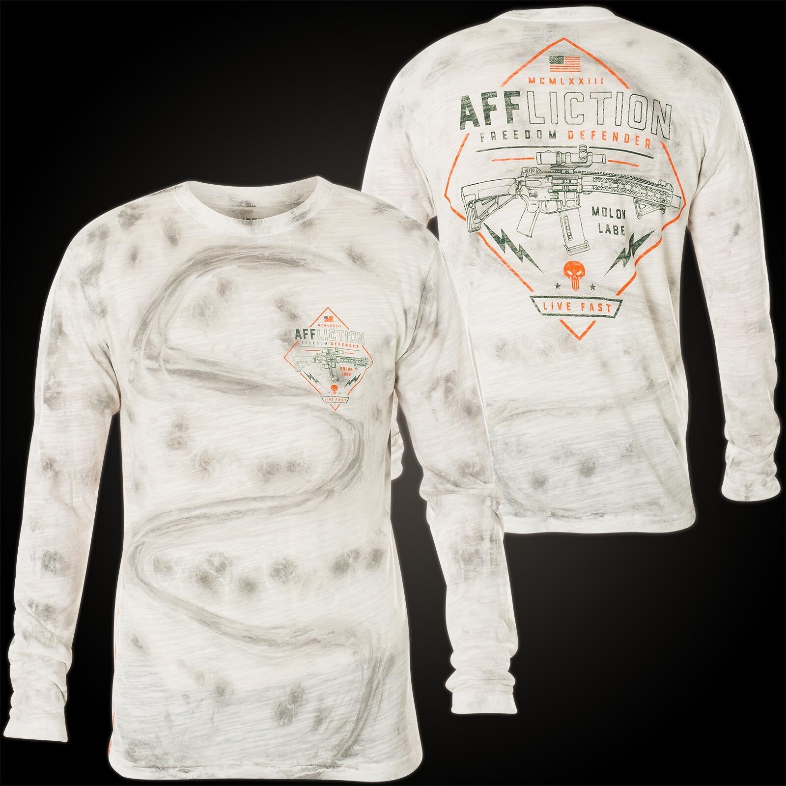 Affliction Pullover Tactical supply Bianco Felpe