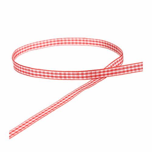 10 yardas//1 Cm Rojo Negro cinta de malla a cuadros escoceses HAZLO TÚ MISMA Decoración Hogar Gi N3S8