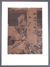 Albert Oehlen Jungfrau Kombinationsdruck 1985 handsigniert u. datiert