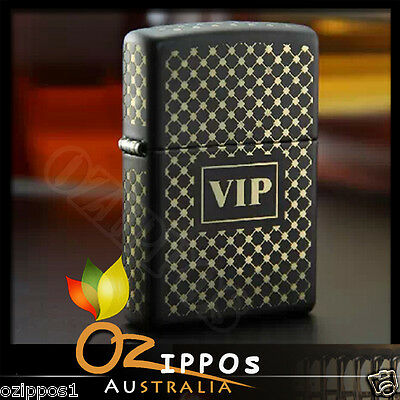 Zippo Lighter VIP Black Matte Finish 28531 --- Free Shipping in Australia