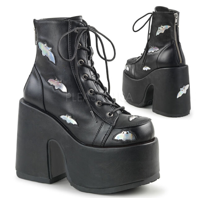 0e9c13d90ad Demonia CHARADE 206 Women Goth Punk Lolita Knee High BOOTS Corset D Ring  Lace up 8 BLK PU