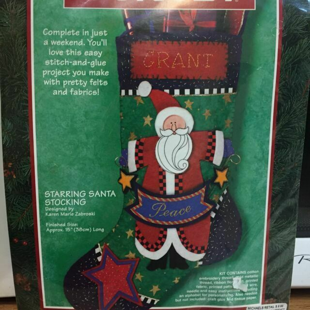 Dimensions Merry Xmas Santa Cross Stitch Kit